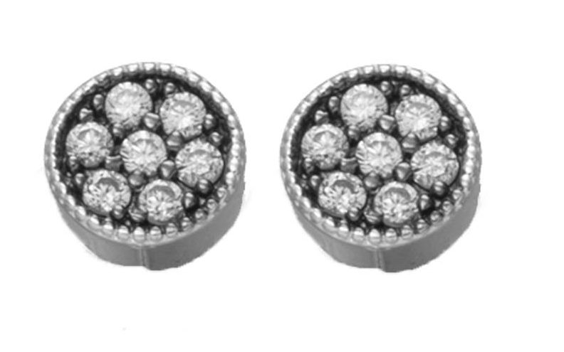 pendientes mini two plata